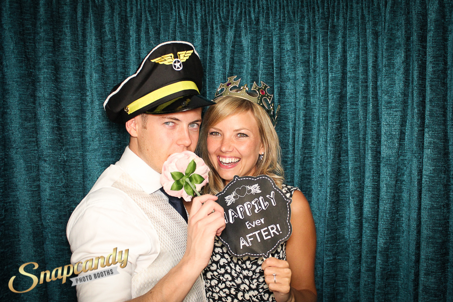 teal photo booth