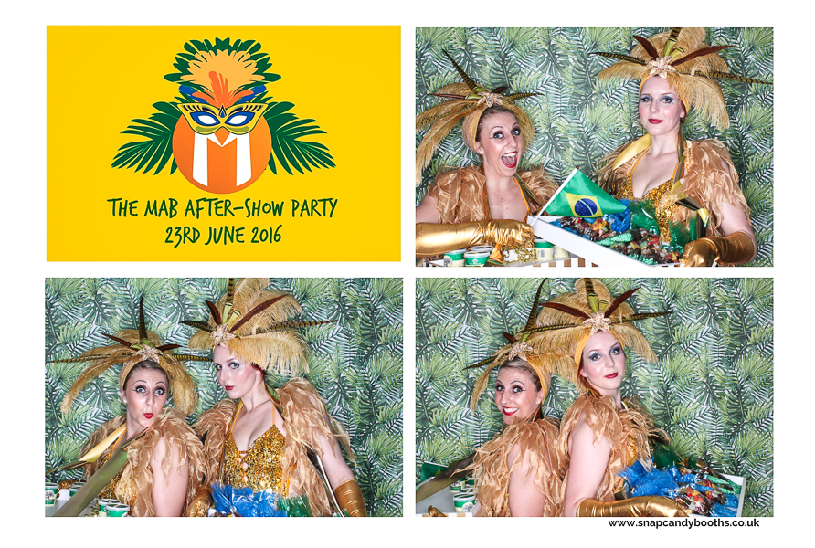 brazil themed photo booth