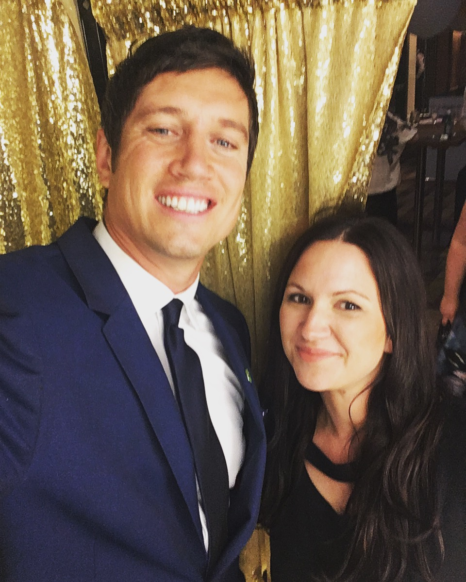 Vernon Kay with Chloe in the booth