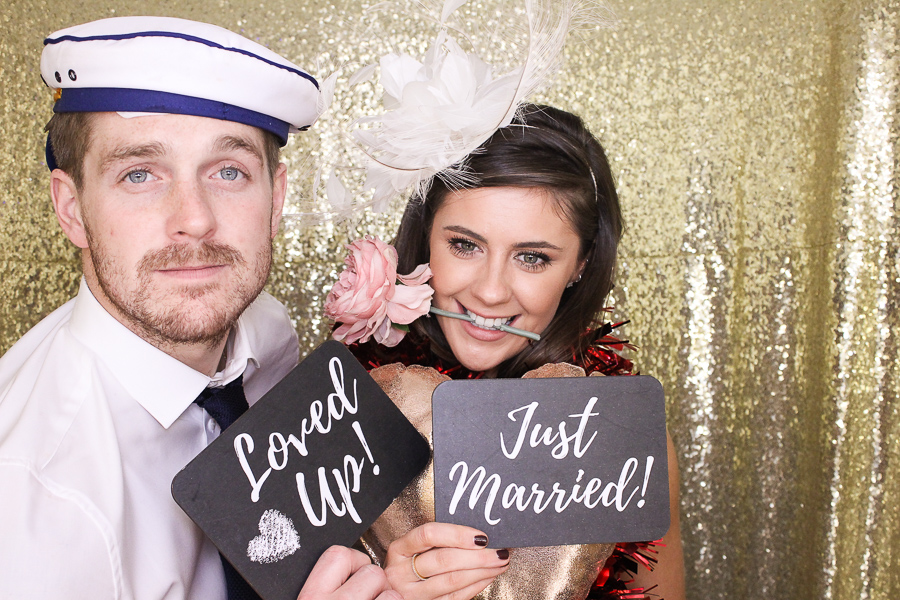 just married photo booth