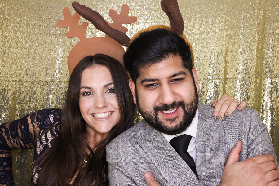 christmas wedding photo booth