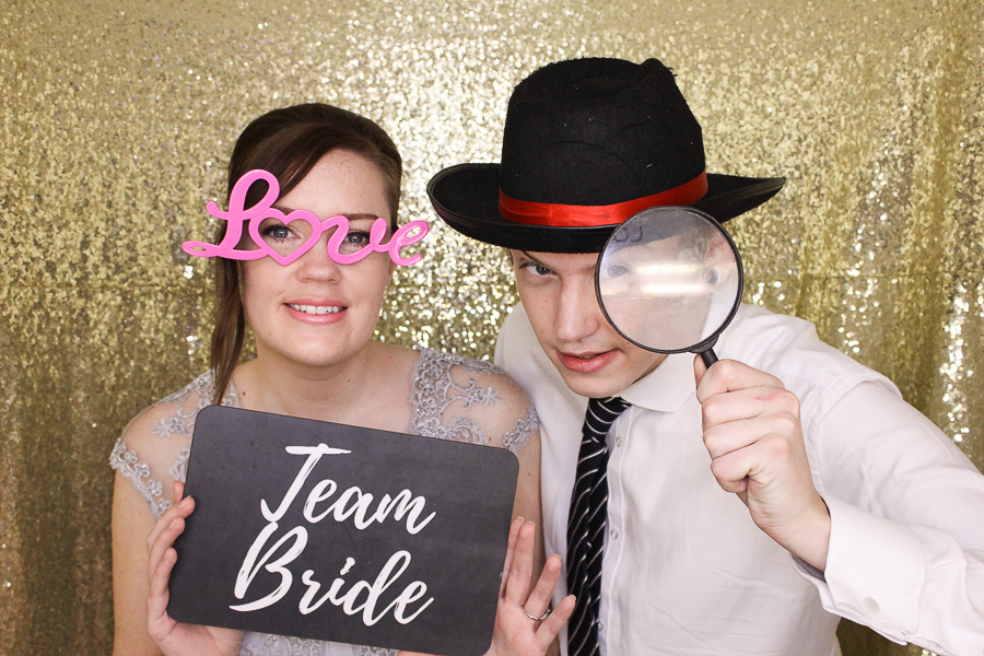 team bride photo booth