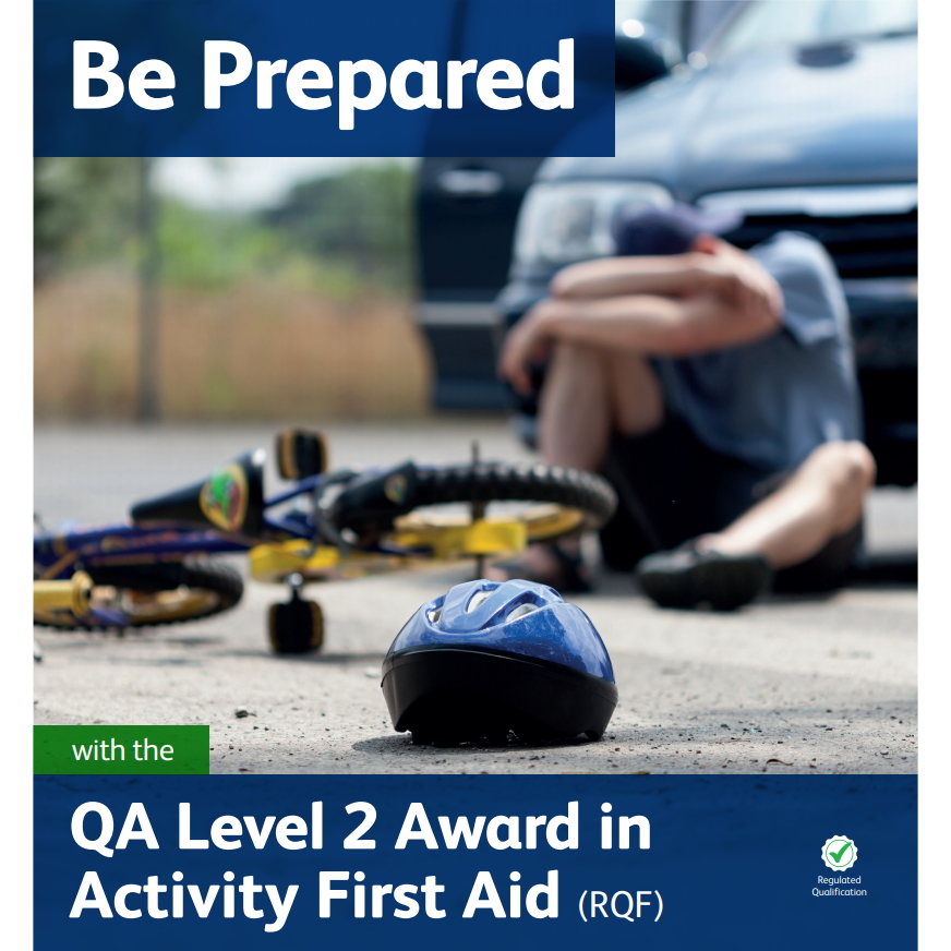 Activity First Aid - Child in road having fallen off a bike
