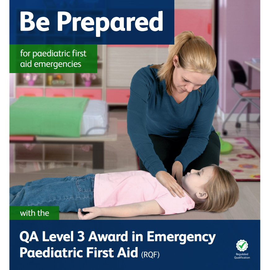 Emergency Paediatric First Aid - Lady checking a young girl who is lying on the floor for a response by tapping on her shoulders