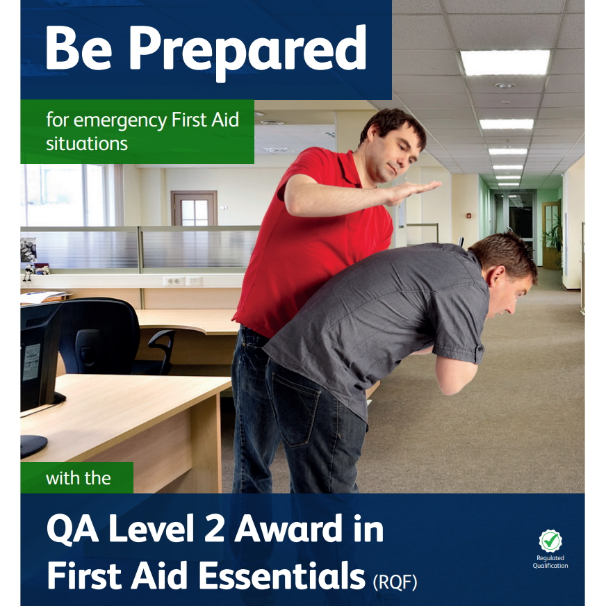 First Aid Essentials - Man performing back slaps on another male who is choking