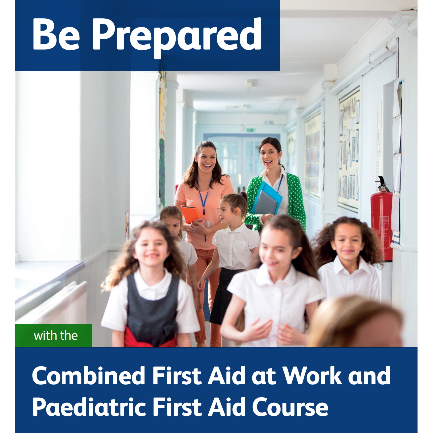 Combined First Aid at Work and Paediatric - Two female teachers following a group of five school girls down a corridor