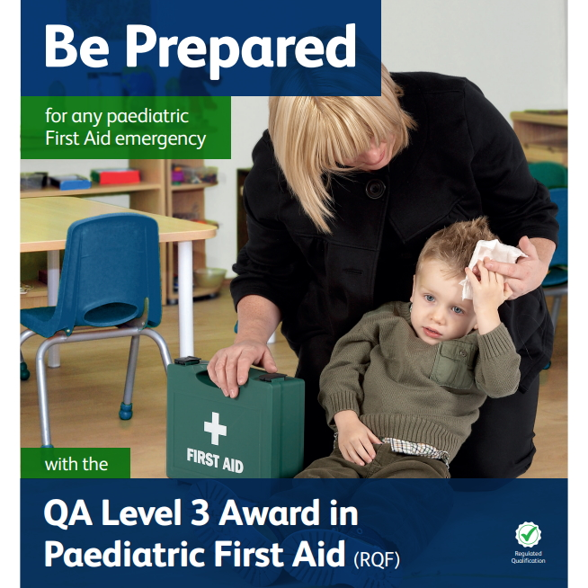Paediatric First Aid - Female helping a young male toddler