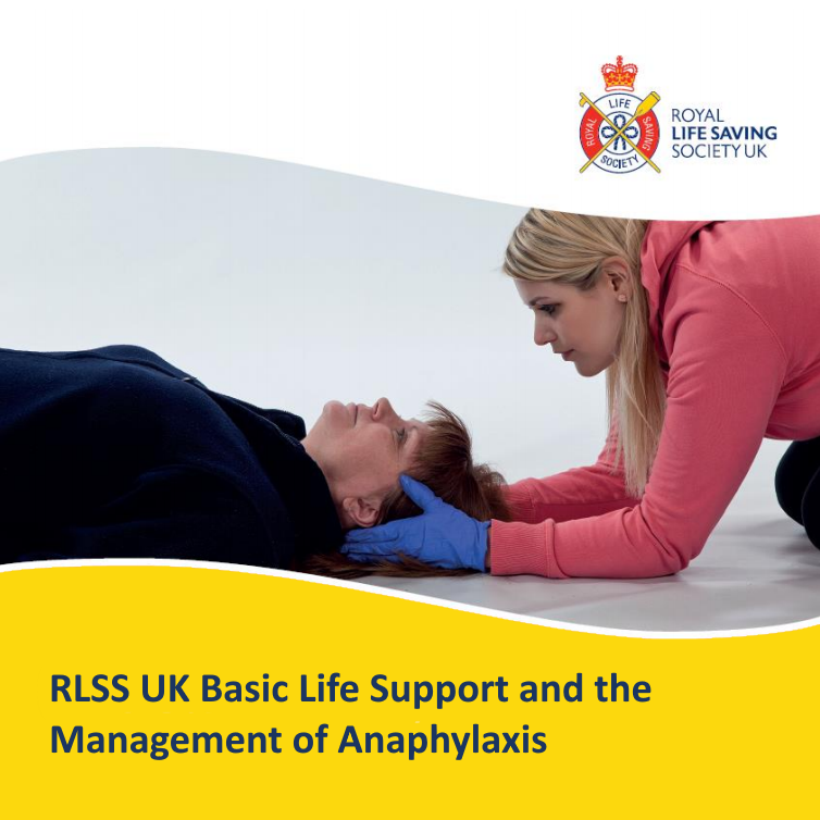 RLSS UK Basic Life Support and the Management of Anaphylaxis - Female first aider supporting a female casualty head