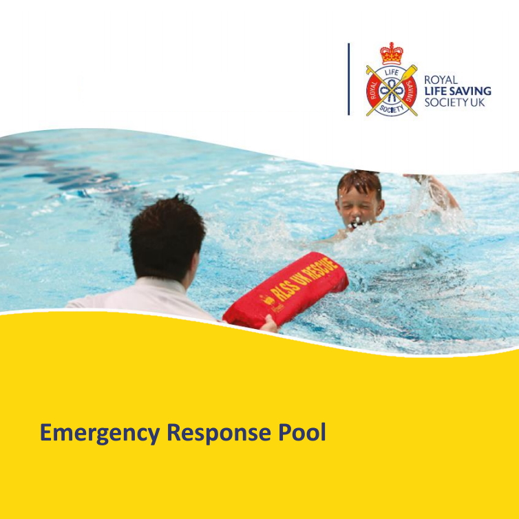 RLSS UK Emergency Response Pool - Lifeguard passing a child a torpedo buoy