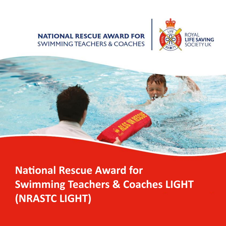 RLSS UK National Rescue Award for Swimming Teachers & Coaches LIGHT - Lifeguard passing a child a torpedo buoy