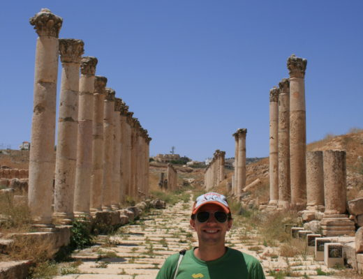 A day before my unmedicated, unscheduled colonoscopy I was lucky to visit the ruins of Jerash. How lovely.