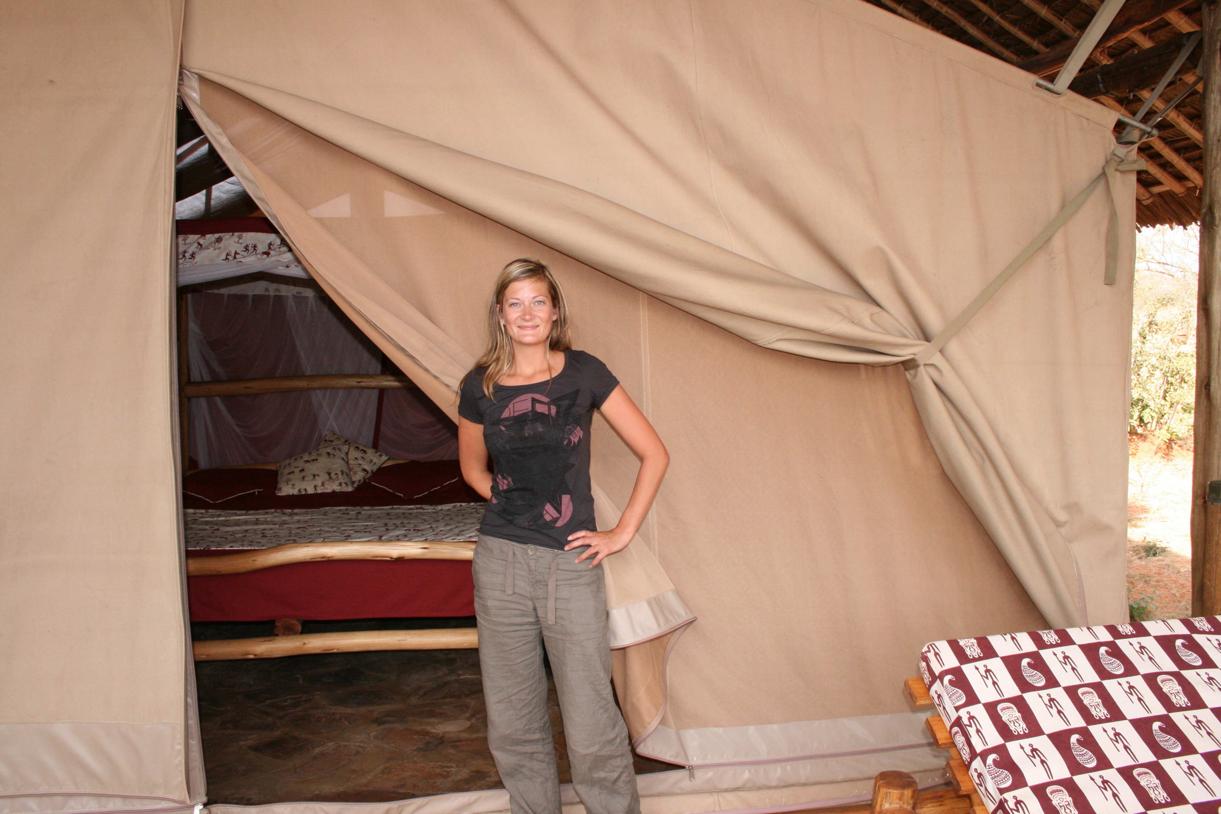 Man Eaters Lodge tent