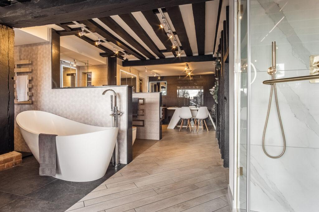 Olympus Bathrooms downstairs showroom