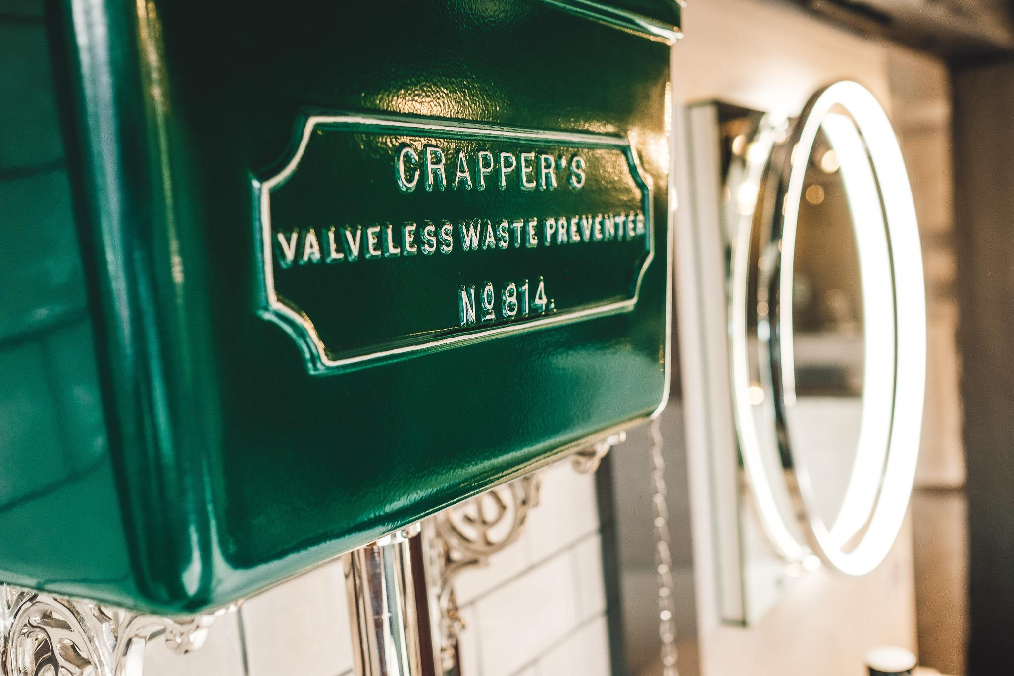 Thomas Crapper cistern in bottle green