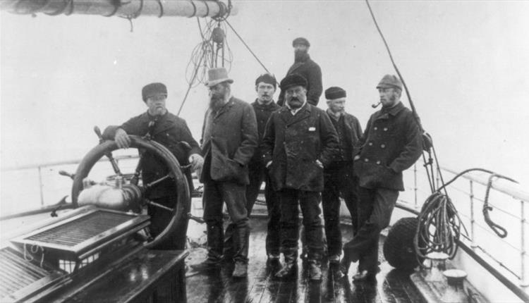 Arthur Conan Doyle on whaling ship, Hope