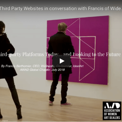 Selling Art via Third Party Websites in conversation with Francis of Widewalls July 2018