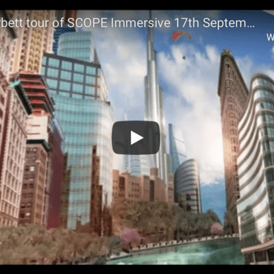 Cynthia Corbett tour of SCOPE Immersive 17th September 2020