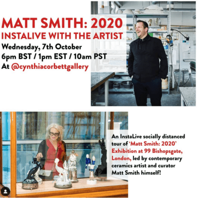 The Cynthia Corbett Gallery hosts InstaLive tour of Matt Smith: 2020