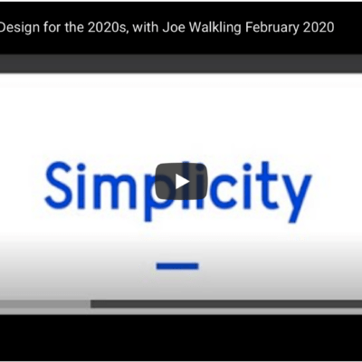 Websites and Design for the 2020s, with Joe Walkling | February 2020