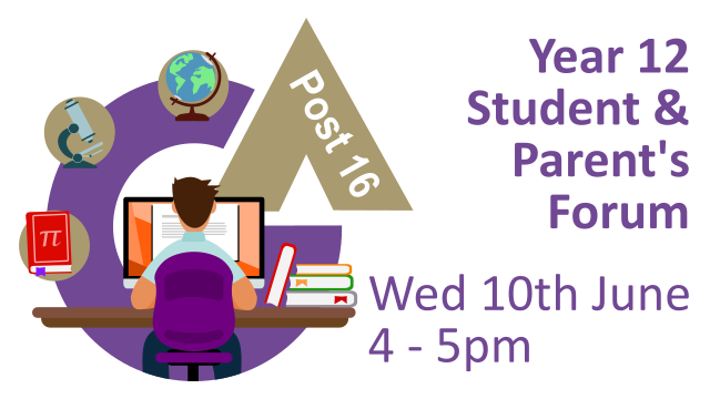 Year 12 Student and parent's forum 10/06/2020 4 - 5pm