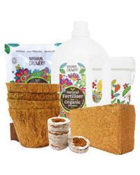 Coir with organic fertiliser