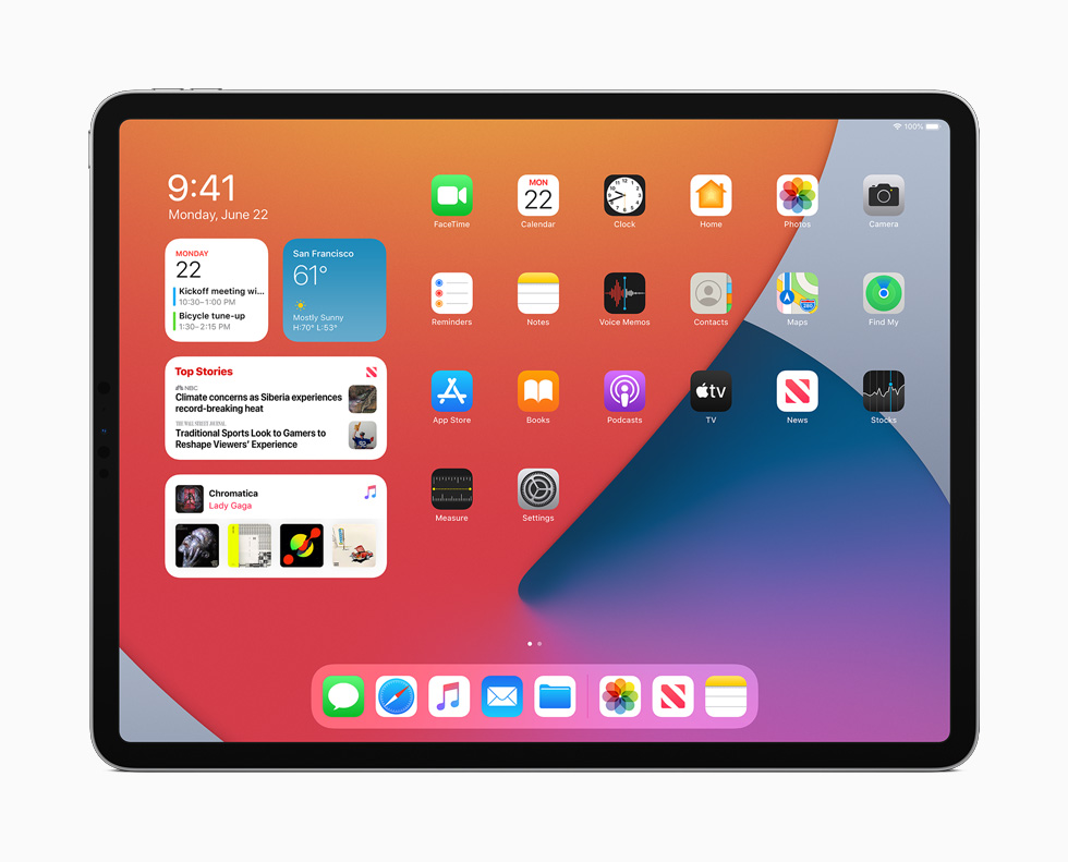 iPadOS 14 builds on the same powerful foundation as iOS, while offering distinct experiences designed just for the capabilities of iPad.