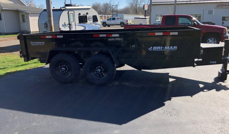 2021 BRI-MAR 7×14 DUMP TRAILER COMBO GATE, RAMPS & D-RINGS-14,000 GVW full