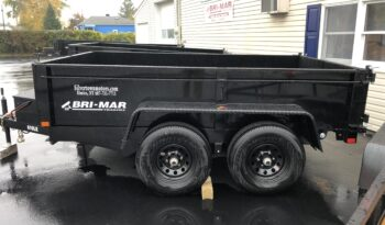 2021 BRI-MAR 6×10 DUMP TRAILER COMBO GATE, RAMPS & D-RINGS-9,990 GVW full