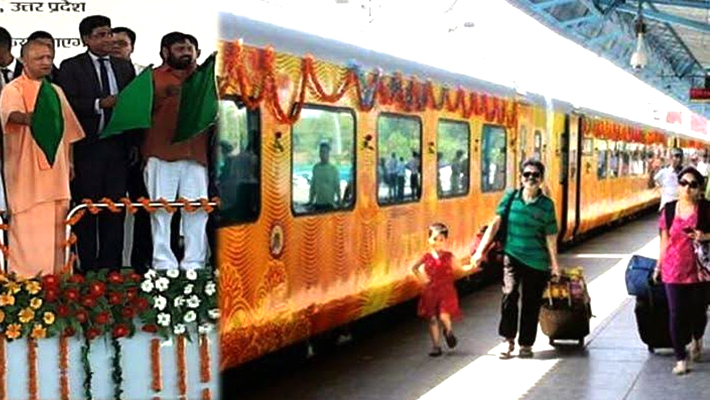 CM योगी आदित्यनाथ ने तेजस को हरी झंडी दिखाकर किया रवाना...