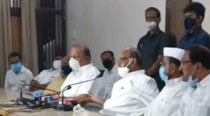 पवार बोले- किसान आंदोलन को समर्थन देगी महाविकास आघाडी, मुख्यमंत्री की अध्यक्षता में होगी बैठक
