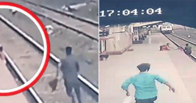 मुंबई के बहादुर रेलवेकर्मी मयूर शेलके ने अपनी जान जोखिम में डाल...ऐसे बचाई बच्चे की जान!