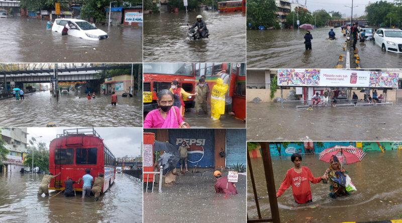 महाराष्ट्र में मानसून की दस्तक, ट्रेन सेवाएं प्रभावित, पहली बारिश ने खोली ड्रेनेज सिस्टम की पोल, कई इलाकों में भरा पानी