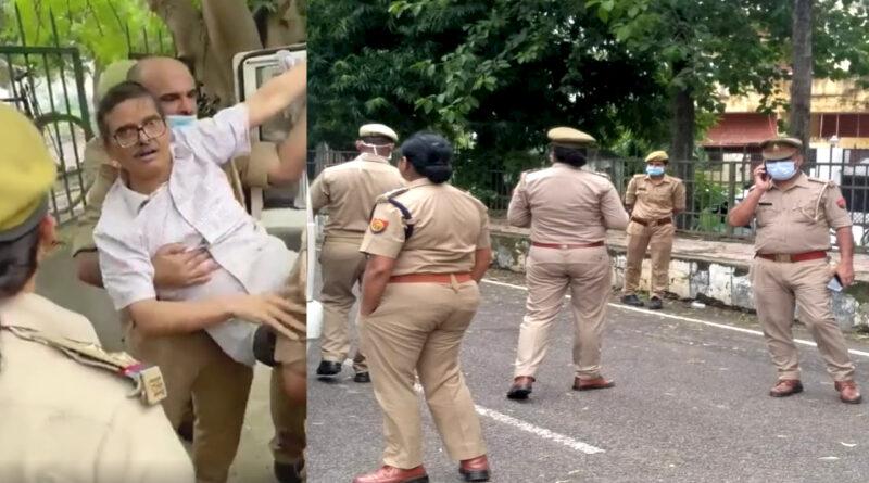 सेवानिवृत्त आईपीएस अमिताभ ठाकुर गिरफ्तार, जीप में बांधकर लाया गया पुलिस स्टेशन! बोले- सीएम योगी मेरी हत्या करा सकते हैं...