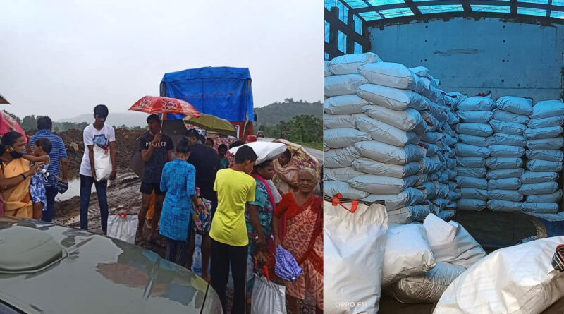 महाराष्ट्र के बाढ़ पीड़ितों के लिए मदद सामग्री का वितरण