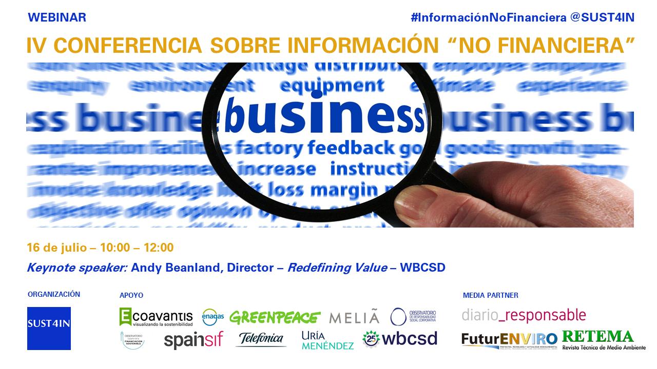"""IV Conferencia sobre información """"No Financiera"""""""