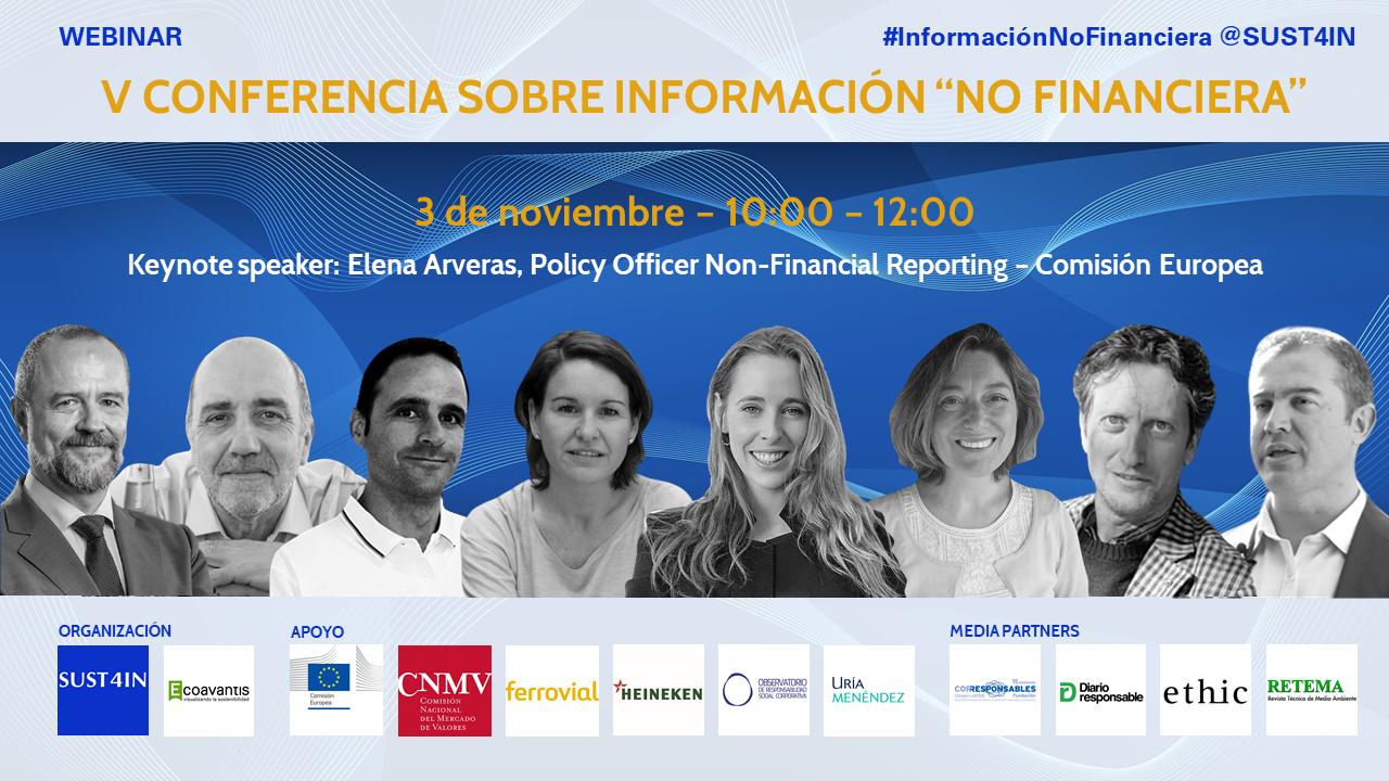 """Cartel V Conferencia sobre Información """"No Financiera"""""""