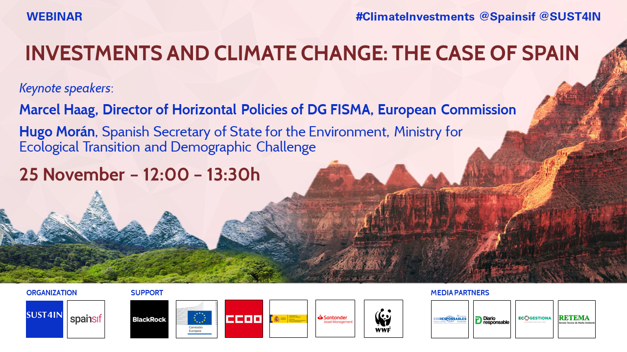 Webinar: Investments and climate change: The case of Spain