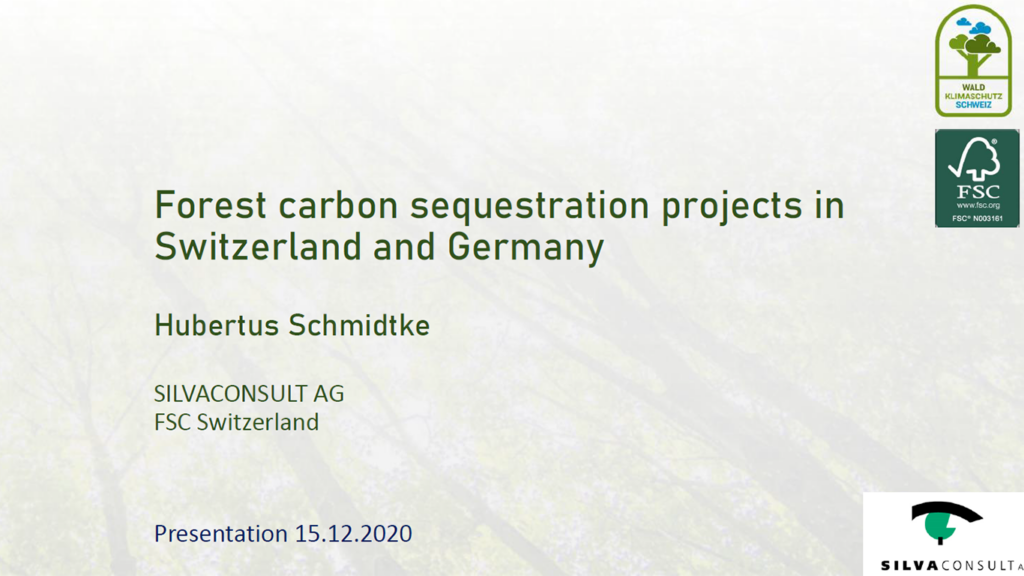Forest carbon sequestration projects in Switzerland and Germany