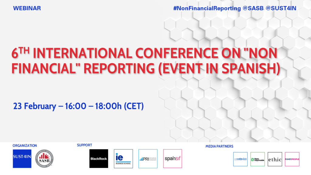 "6th International Conference on ""Non Financial"" Reporting (Event in Spanish)"