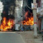 मुंगेर गोलीकांड: भीड़ ने फूंका थाना, हटाये गये DM-SP