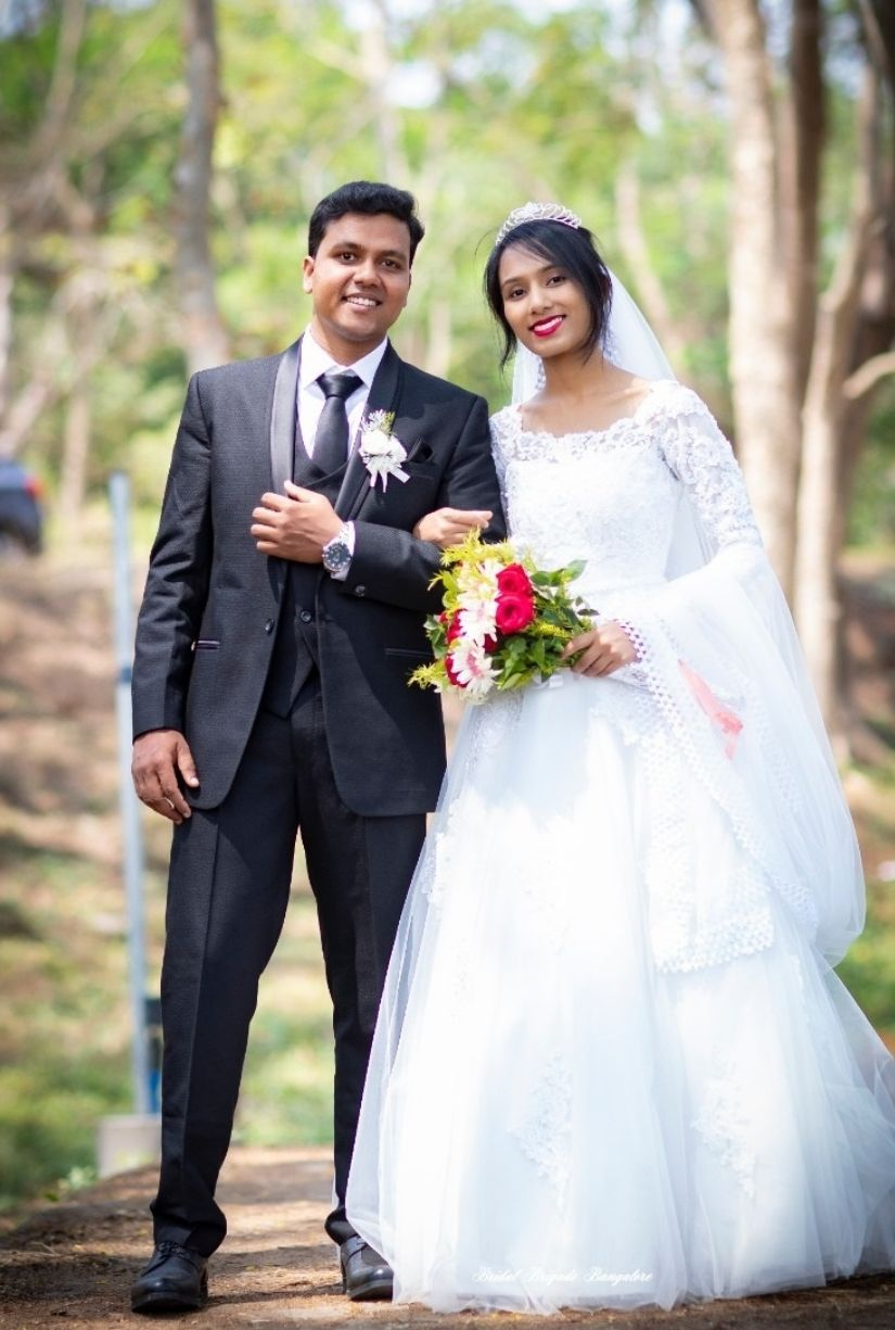 White Ball Gown from Bridal Brigade Bangalore