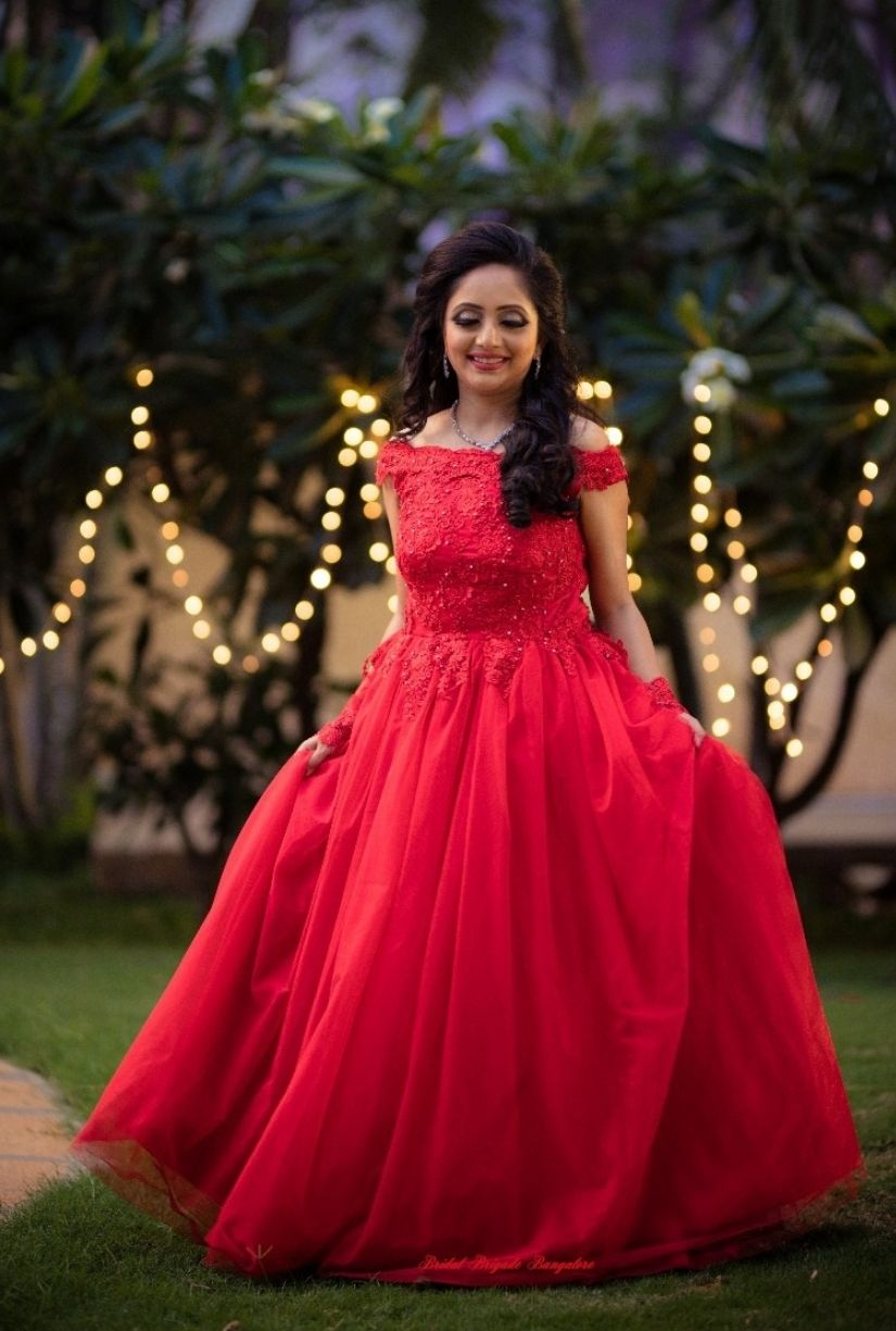 Reception Red Ball Gown