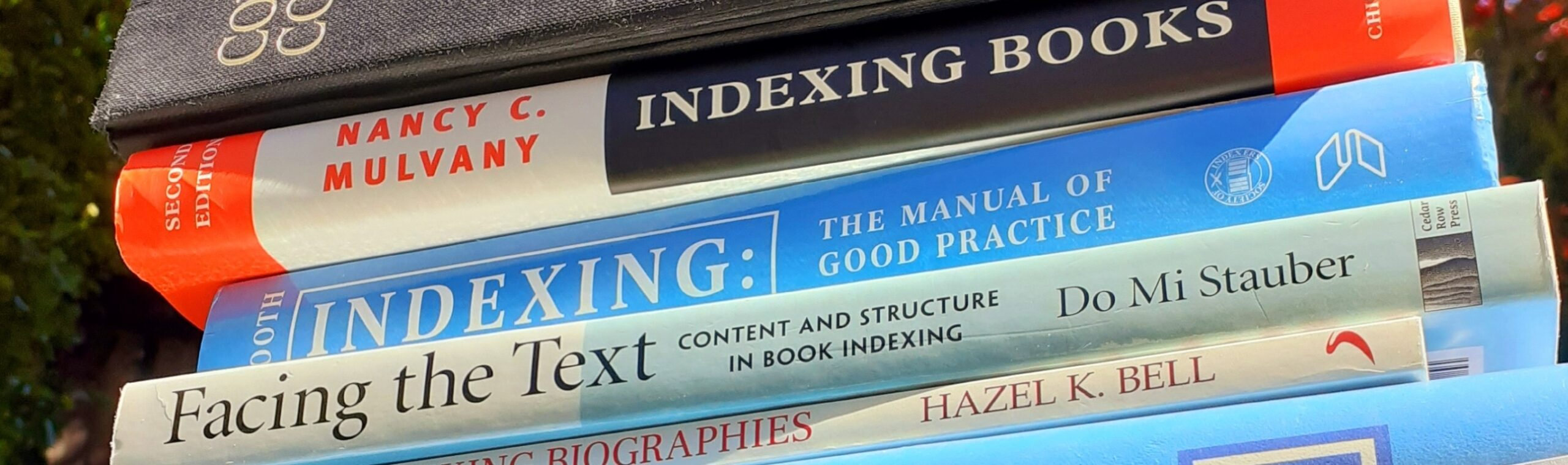 an indexer's reference books