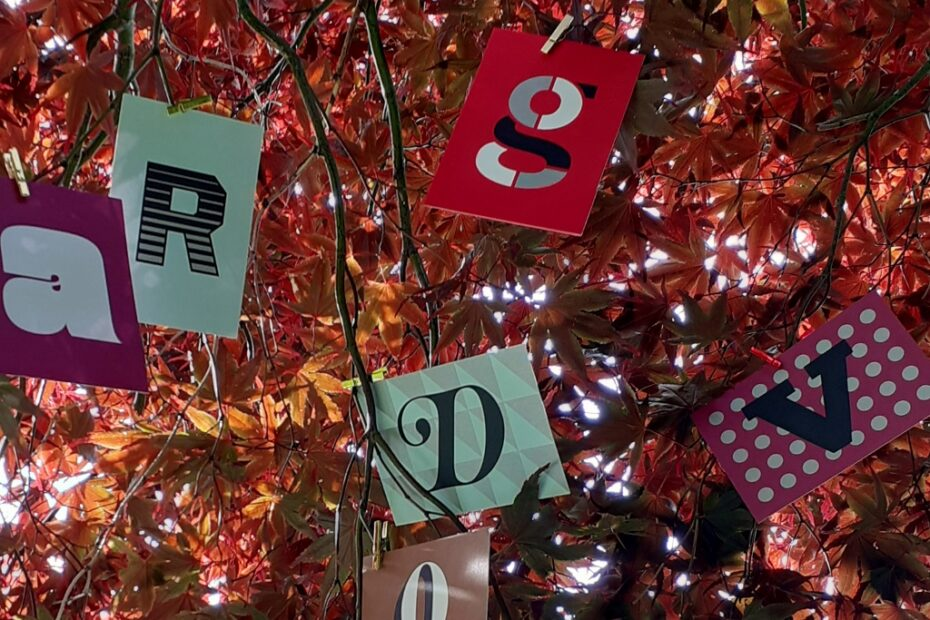 Letters in a tree