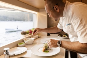 ONEWORLD private chef preparing our fine dining menu