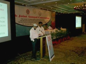 04-Sk Burhan delivering tech paper at Hyderabad conference-2005