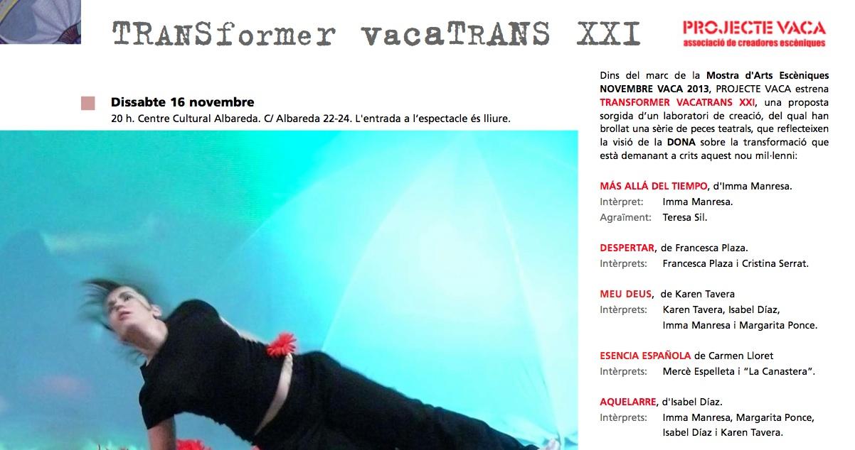 TRANSFORMER VACATRANS XXI de Projecte Vaca