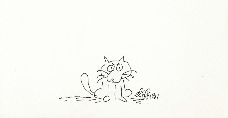 El Perich y sus gatos