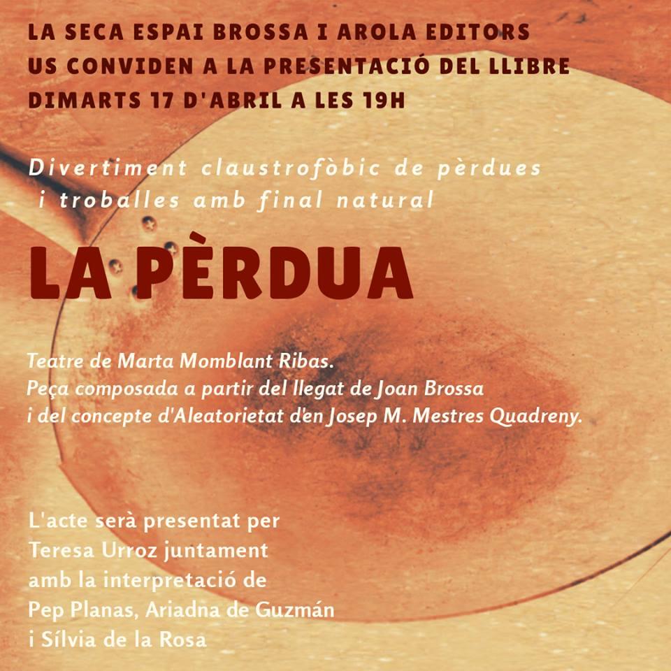 """Se publica """"La Pèrdua"""" de Marta Momblant Ribas"""