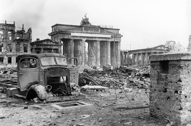 Berlin in ruins after WWII